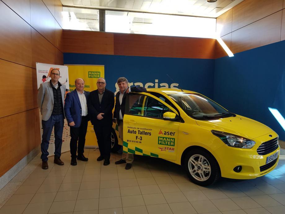 """MANN+HUMMEL IBÉRICA y ASER entregan un vehículo de sustitución al ganador del concurso """"Cambio filtro por coche"""""""